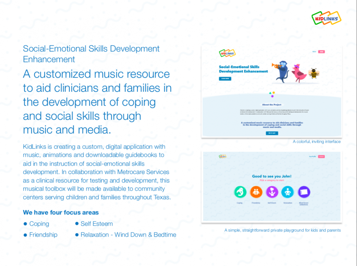 Screenshot of the first slide of a presentation on Social Emotional skills